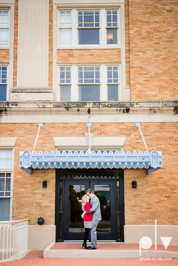 Engagement Fort Worth Texas portrait photography magnolia fall winter red couple Trinity park trees outside urban architecture Sarah Whittaker Photo La Vie-6.JPG