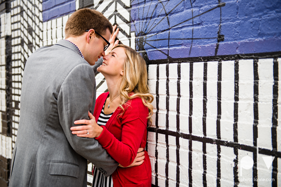 Engagement Fort Worth Texas portrait photography magnolia fall winter red couple Trinity park trees outside urban architecture Sarah Whittaker Photo La Vie-9.JPG