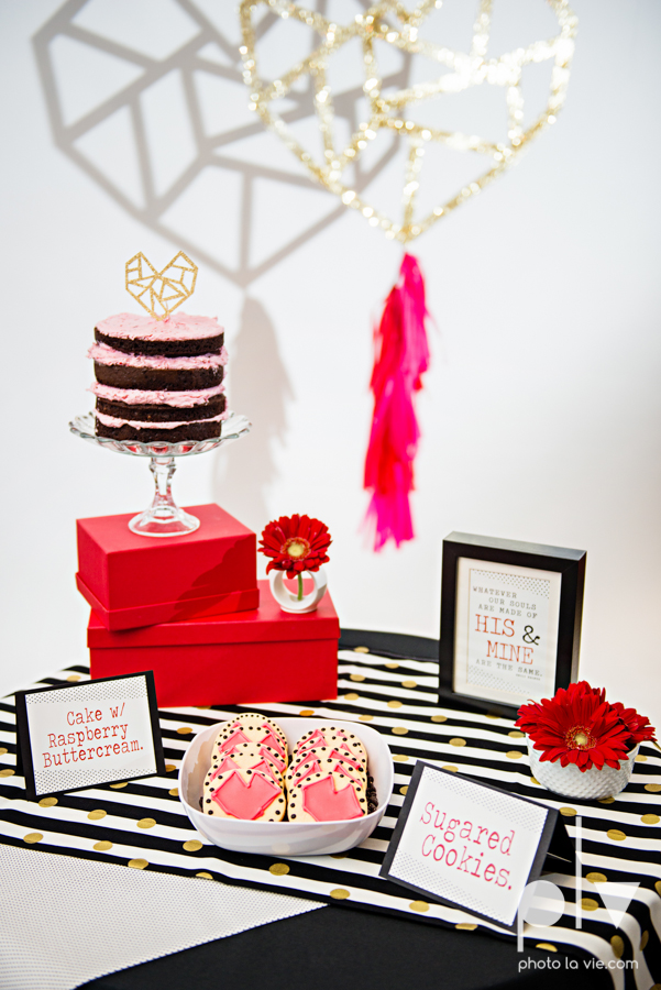 ValentinesDay Mini Session bridal shower theme styled gold black white pink red modern bold type text heart cake glitter statement stripes dot candle daisy singer bow Dainty Dahlias Sarah Whittaker Photo La Vie-8.JPG