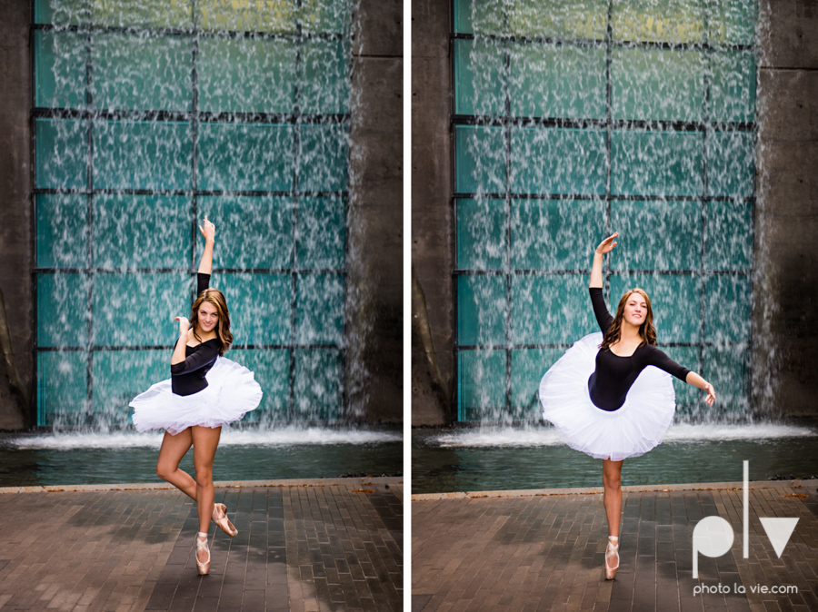 Claire Downtown Fort Worth campus sundance square ballerina ballet pointe garage urban senior dancer Sarah Whittaker Photo La Vie-25.JPG