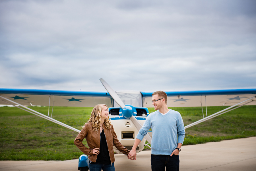 Photo La Vie Sarah Whittaker wedding photographer engagement photography DFW dallas fort worth plane airport pilot park pavilion architecture modern color-1.JPG
