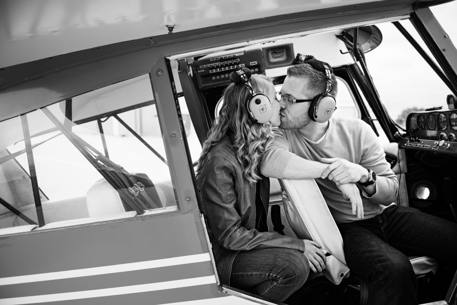 Photo La Vie Sarah Whittaker wedding photographer engagement photography DFW dallas fort worth plane airport pilot park pavilion architecture modern color-2.JPG