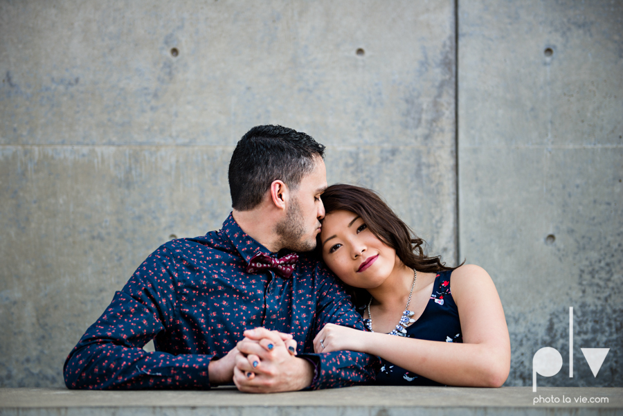 Mabel Hector engagement session Fort Worth Texas The Modern Art Museum The Kimbell kahn ando piano hot pink couple engaged ring shot texture winter architecture modern Sarah Whittaker Photo La Vie-3.JPG