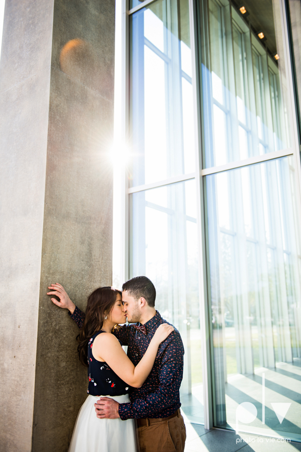 Mabel Hector engagement session Fort Worth Texas The Modern Art Museum The Kimbell kahn ando piano hot pink couple engaged ring shot texture winter architecture modern Sarah Whittaker Photo La Vie-7.JPG