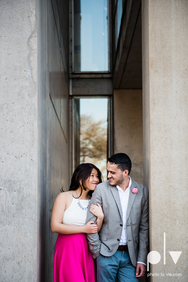 Mabel Hector engagement session Fort Worth Texas The Modern Art Museum The Kimbell kahn ando piano hot pink couple engaged ring shot texture winter architecture modern Sarah Whittaker Photo La Vie-9.JPG