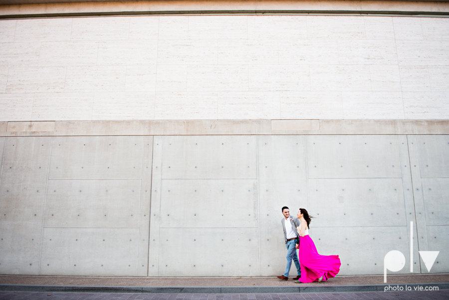 Mabel Hector engagement session Fort Worth Texas The Modern Art Museum The Kimbell kahn ando piano hot pink couple engaged ring shot texture winter architecture modern Sarah Whittaker Photo La Vie-10.JPG