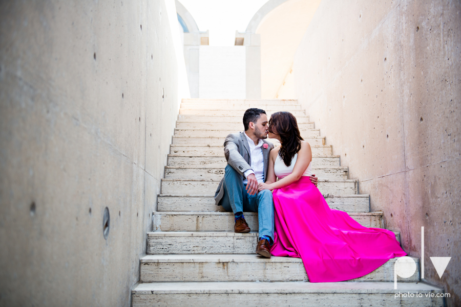 Mabel Hector engagement session Fort Worth Texas The Modern Art Museum The Kimbell kahn ando piano hot pink couple engaged ring shot texture winter architecture modern Sarah Whittaker Photo La Vie-13.JPG