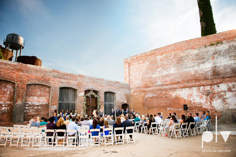 alyssa adam schroeder wedding mckinny cotton mill dfw texas outdoors summer wedding married pink dress vines walls blue lights Sarah Whittaker Photo La Vie-32.JPG