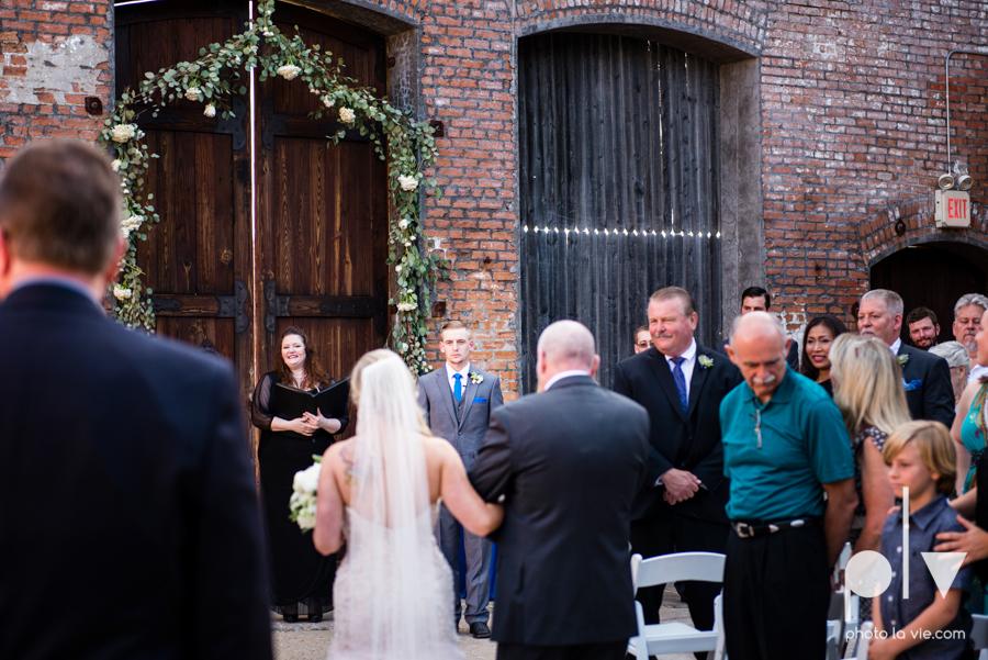 alyssa adam schroeder wedding mckinny cotton mill dfw texas outdoors summer wedding married pink dress vines walls blue lights Sarah Whittaker Photo La Vie-31.JPG