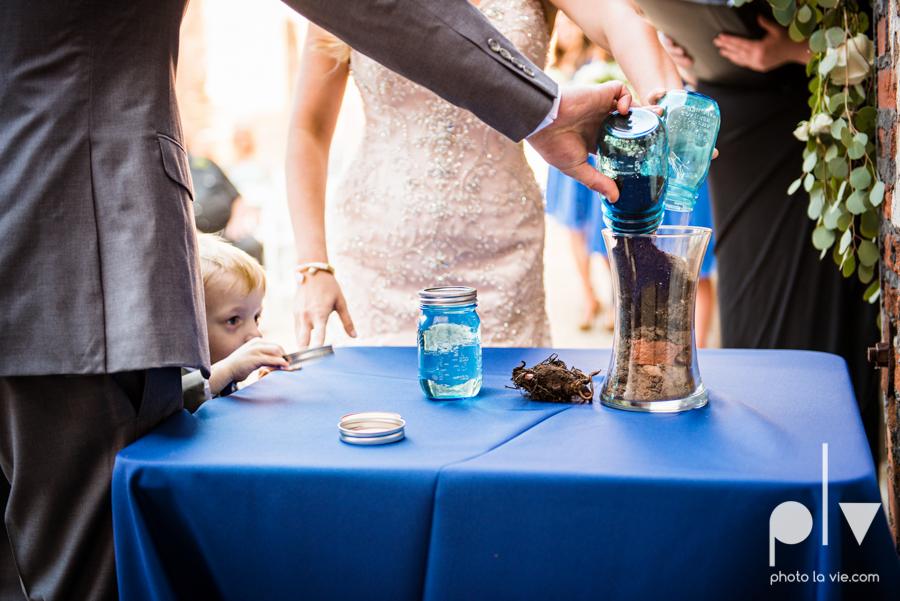 alyssa adam schroeder wedding mckinny cotton mill dfw texas outdoors summer wedding married pink dress vines walls blue lights Sarah Whittaker Photo La Vie-35.JPG