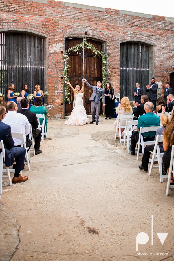 alyssa adam schroeder wedding mckinny cotton mill dfw texas outdoors summer wedding married pink dress vines walls blue lights Sarah Whittaker Photo La Vie-39.JPG