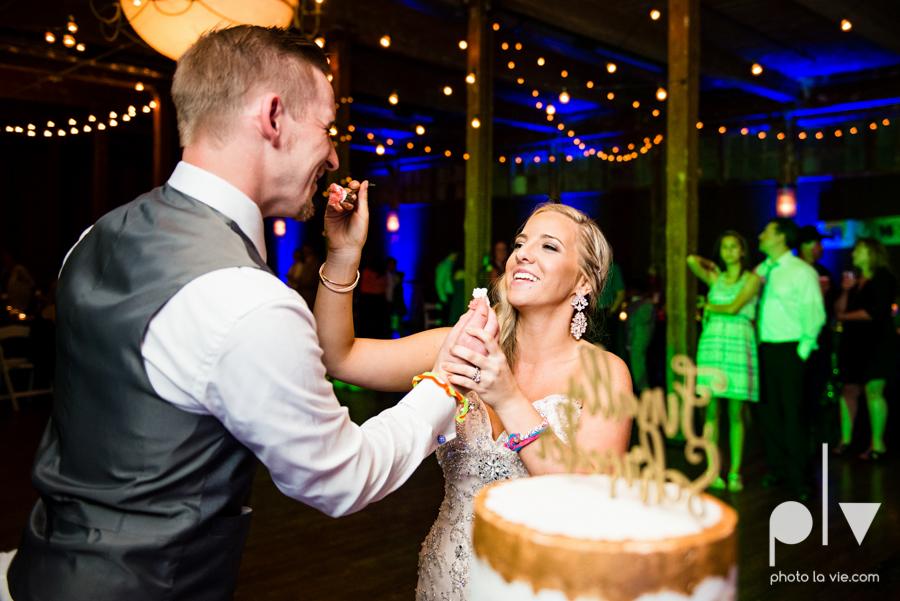 alyssa adam schroeder wedding mckinny cotton mill dfw texas outdoors summer wedding married pink dress vines walls blue lights Sarah Whittaker Photo La Vie-53.JPG