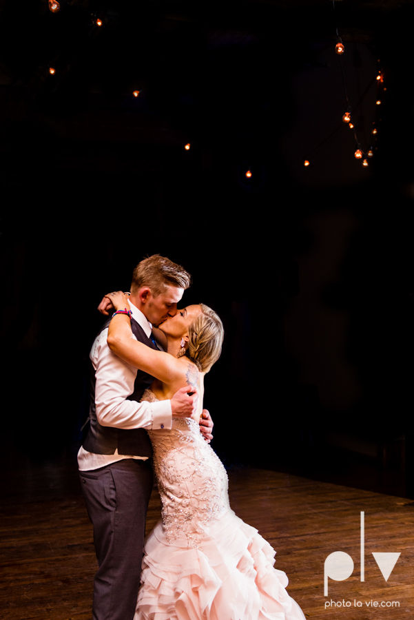 alyssa adam schroeder wedding mckinny cotton mill dfw texas outdoors summer wedding married pink dress vines walls blue lights Sarah Whittaker Photo La Vie-68.JPG