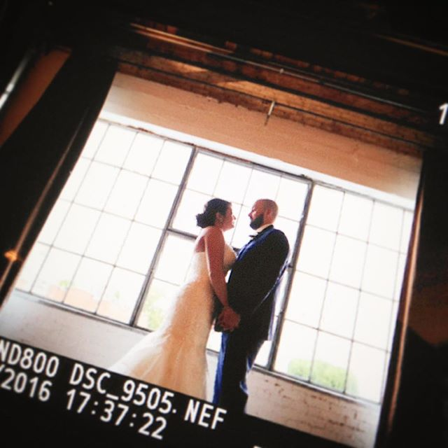 Major congrats to this fun-loving couple!!! @tara_with_a_t #sneakpeek #weddinginaction #backofmycamera #nikon #dfwphotographer #weddingphotographer #weddings #brideandgroom #windows @hickorystreetannex #dallas #dallasbride #instadfw
