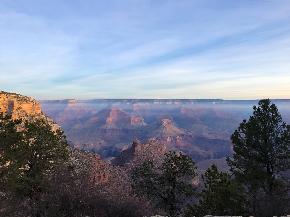 Grand Canyon South Rim at Dawn