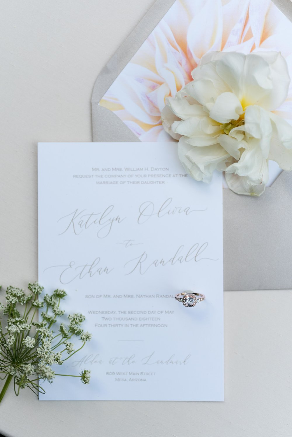 The writing. - Nora Belle Designs provided lovely invites and menus.