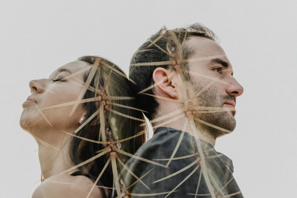 In Camera Double Exposure - Couples Session - Phoenix, Arizona