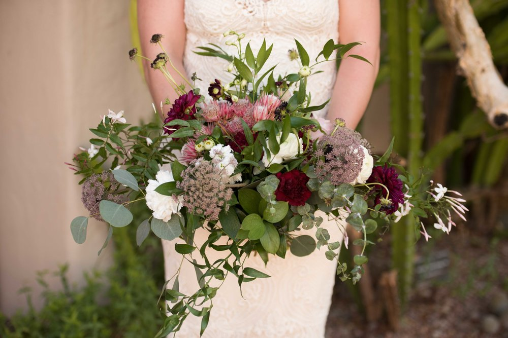 Vendor Highlight - Moelleux Events - Floral arrangements that are truly one of a kind! I can not think of a better florist to use for your desert elopement. Moelleux Events will truly create something that goes perfect with wherever you decide to tie the knot and with the vision you imagine.