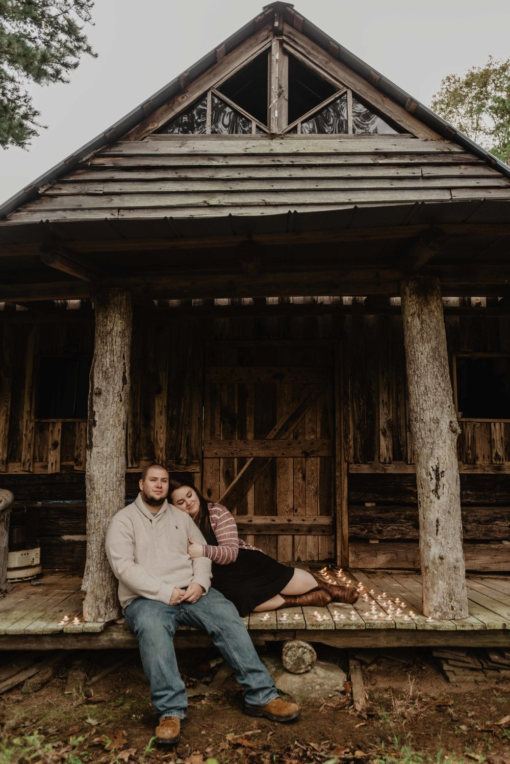 Cabin Engagement Session - North Carolina Elopement Session
