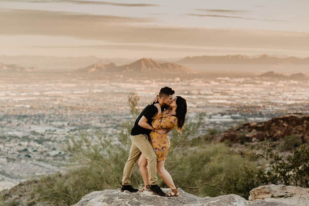 Engagement Session at Dobbins Point Phoenix - Adventure couple's session