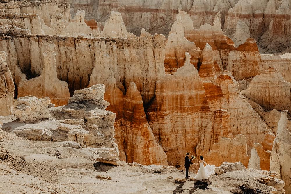 Coal Mine Canyon Elopement - Flagstaff Elopement Photographer - Northern Arizona Adventure Elopement
