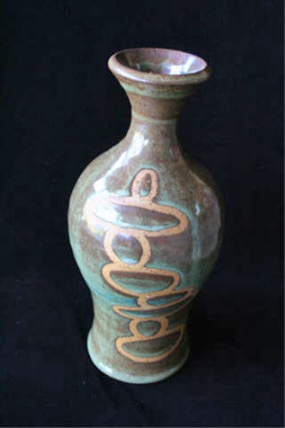 Obo in Green and Iron  , 2007, wheel-thrown stoneware Fired at cone 6 oxidation