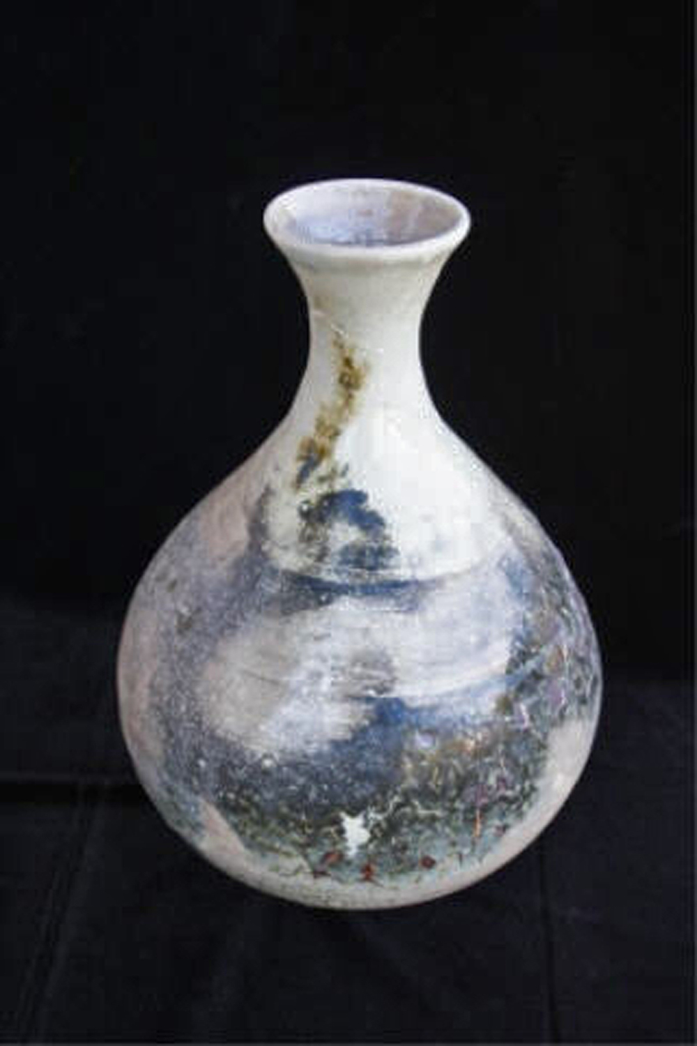 "The Smoke Clears  , 2003, wheel-thrown bentonite clay Fired at cone 10 reduction, 101/2"" h x 7"" dia"