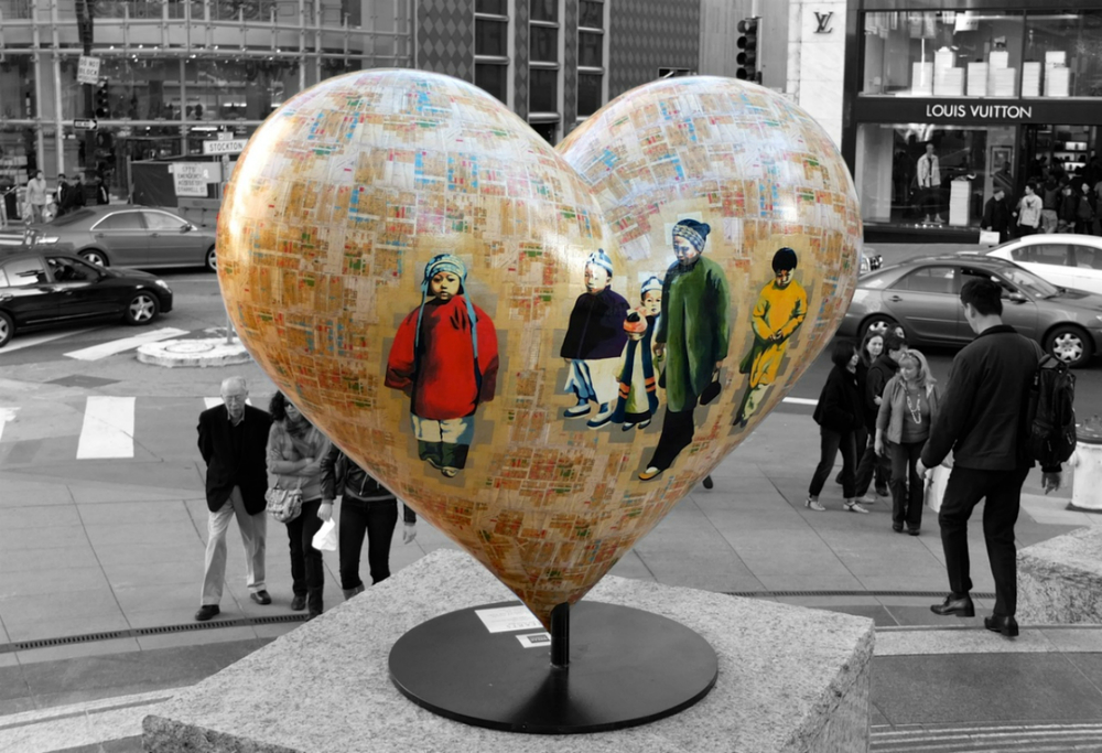 Artwork in Union Square, San Francisco. Photograph by Thomas Pappas