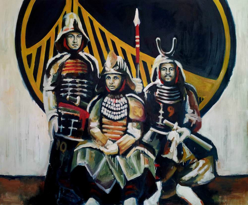 The City of Warriors  , 2014, Oil on canvas, 60 x 72""