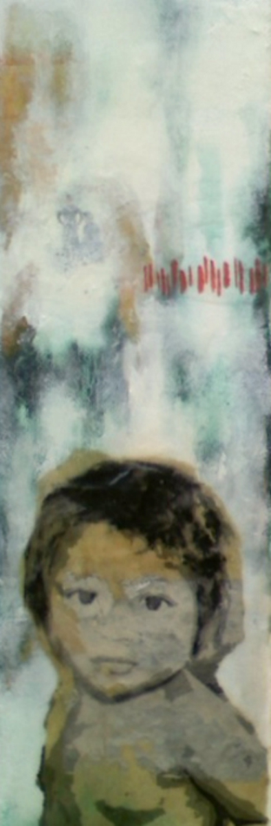 "Our Very Own (10th Child)  , 2011, mixed media, 12 x 4"", Collection of Jamie Ross, Naples  , FL"
