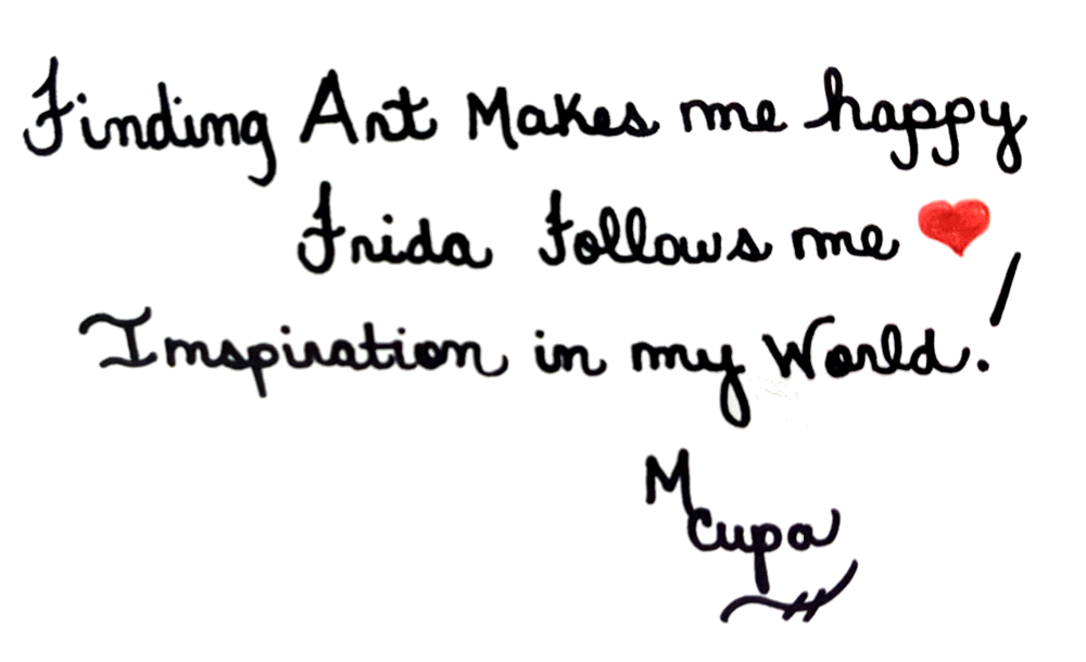 A NOTE WRITTEN ON THE BACK OF ONE OF HER PAINTINGS