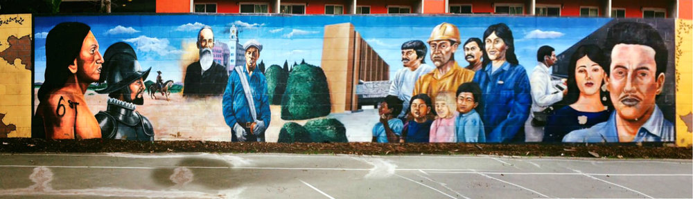 A mural at Angels Community Park in Santa Ana