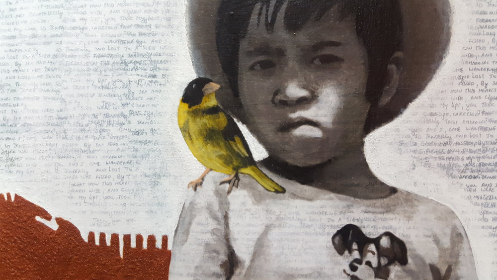 No. III, Chris with Vietnamese Greenfinches  , detail