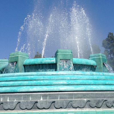William Mulholland Memorial Fountain, Los Feliz Blvd. at Riverside Dr.
