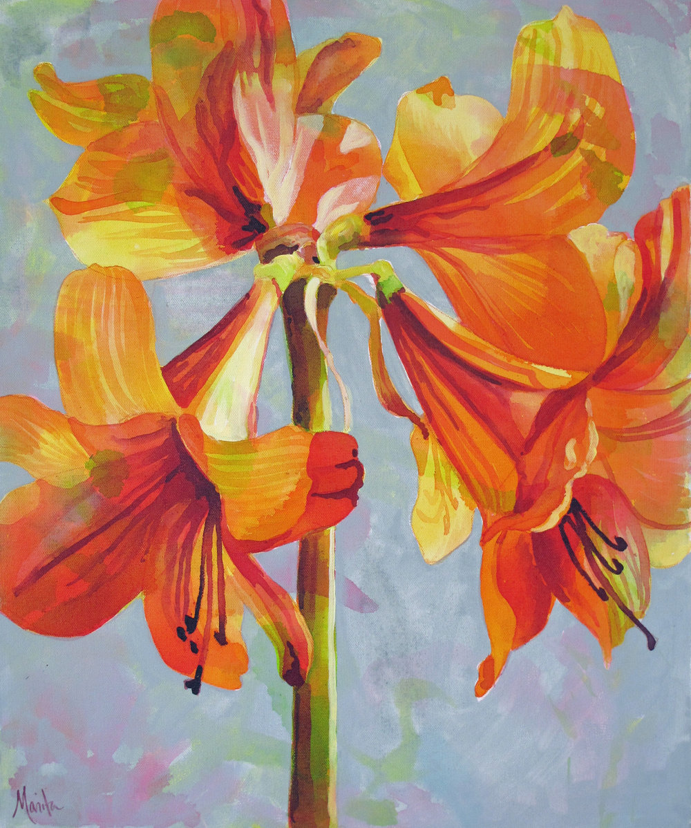 Nothing but Orange Lily's 24x20 $385