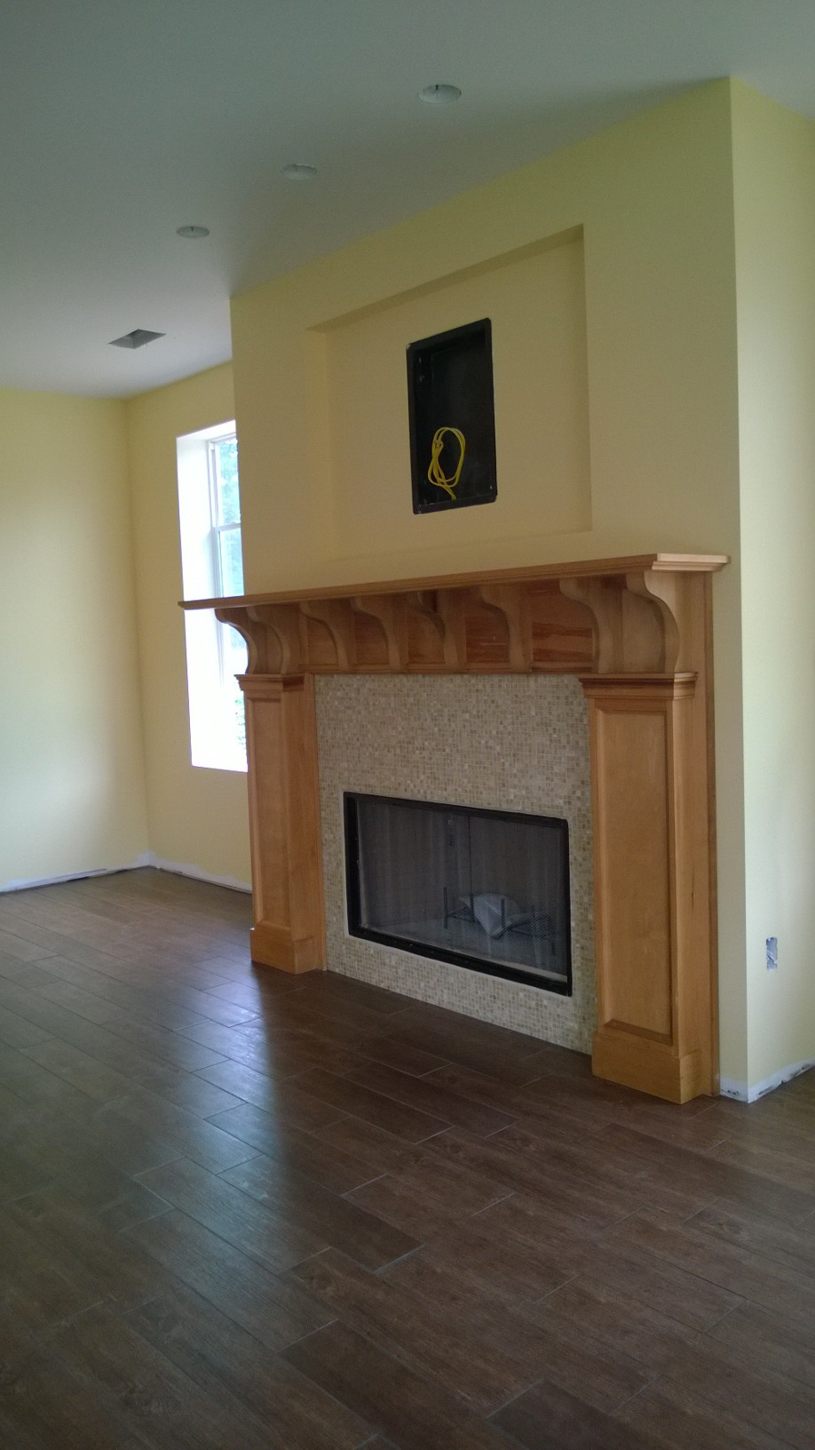 Fireplace Mantle with recessed rectangle