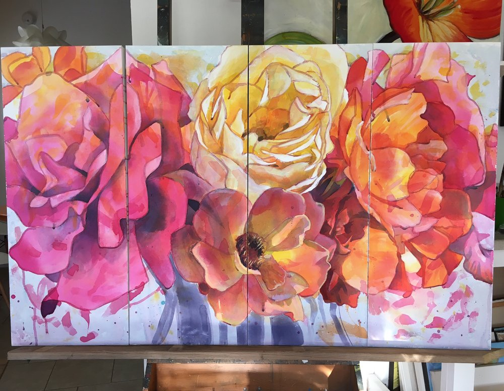 Roses on Display  Painting
