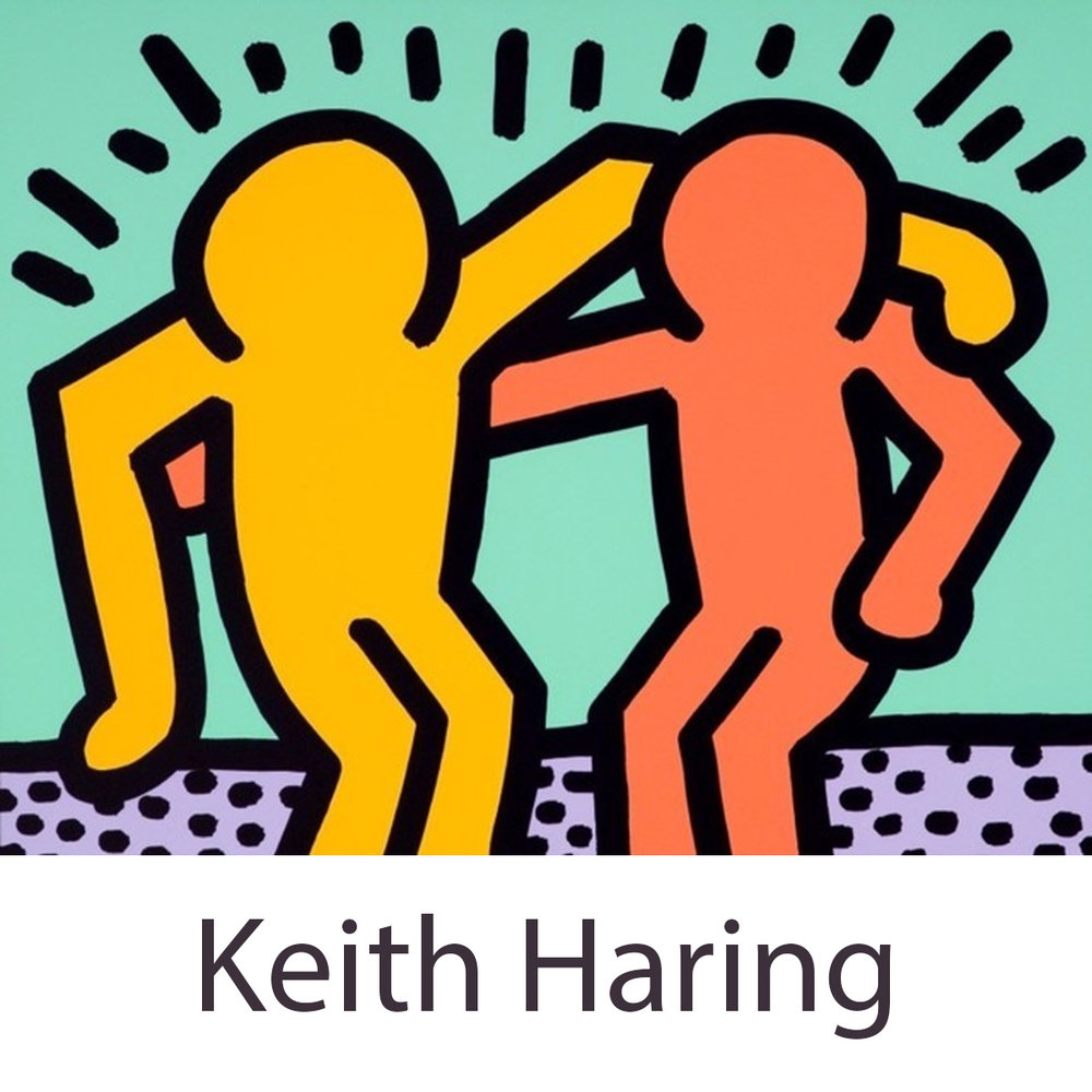 - This is an example of Keith Haring's work.  So I felt that with figures like these we could have fun and create a fun mural.