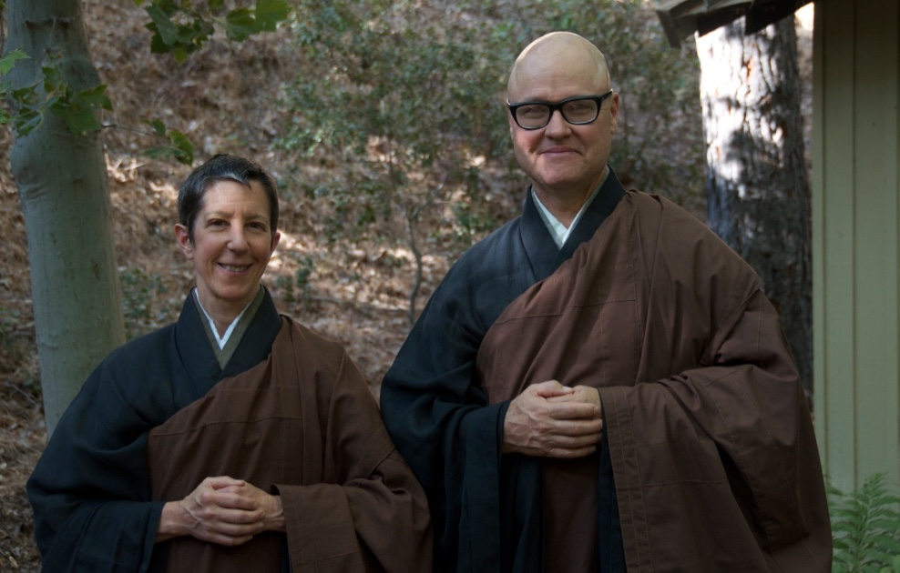 Rev. Shinchi Linda Galijan Roshi, and Rev. Zenshin Greg Fain Roshi