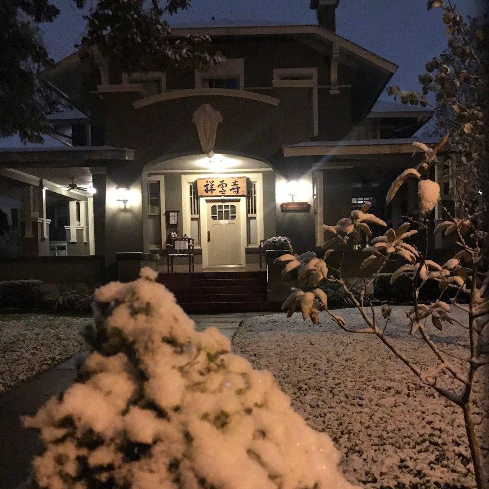 Snow at the Zen Center