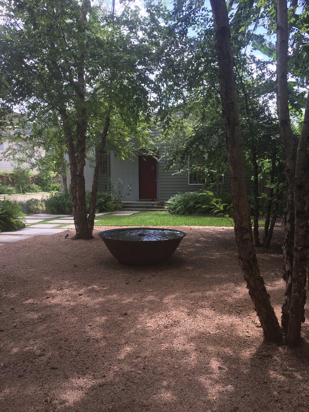 Fountain at the Zen Center