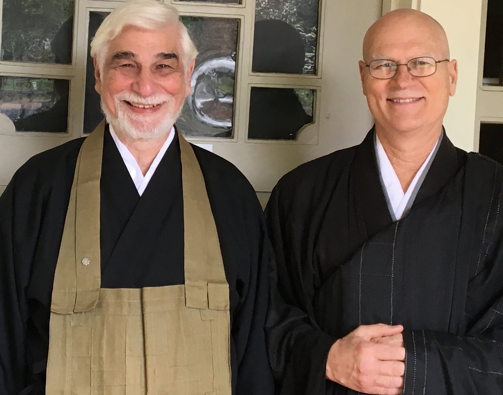 Kogen Glen and Yazan Dave Johnson after Kogen received Lay Dharma Entrustment