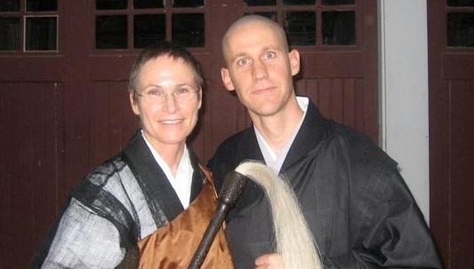 Abbot Gaelyn Godwin and Shuso Hondo Dave Rutschman