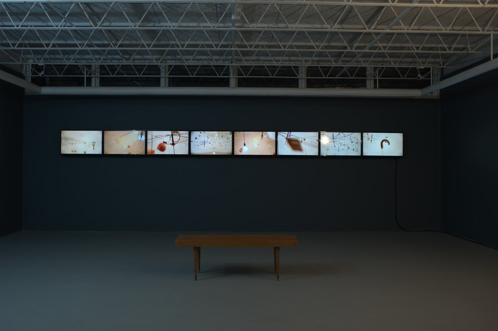 "Diurnal, 2014 eight-channel video, 32"" flat screen monitors"