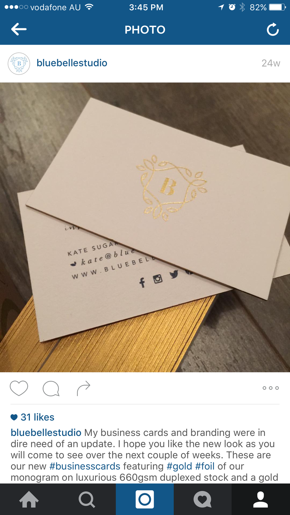 Business cards with gold edge colouring