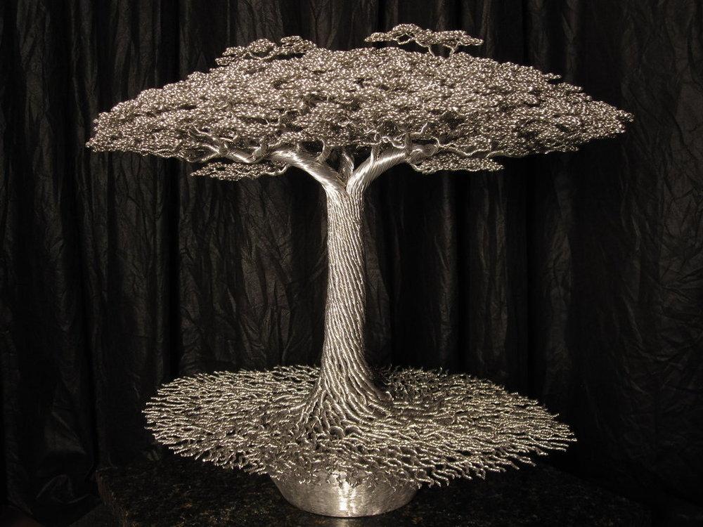ALUMINUM WIRE TREE SCULPTURES