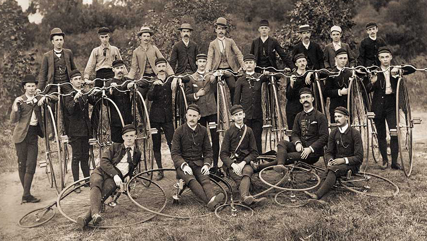 CYCLISTS: FIRST ADVOCATES FOR PAVED ROADS (photo essay)