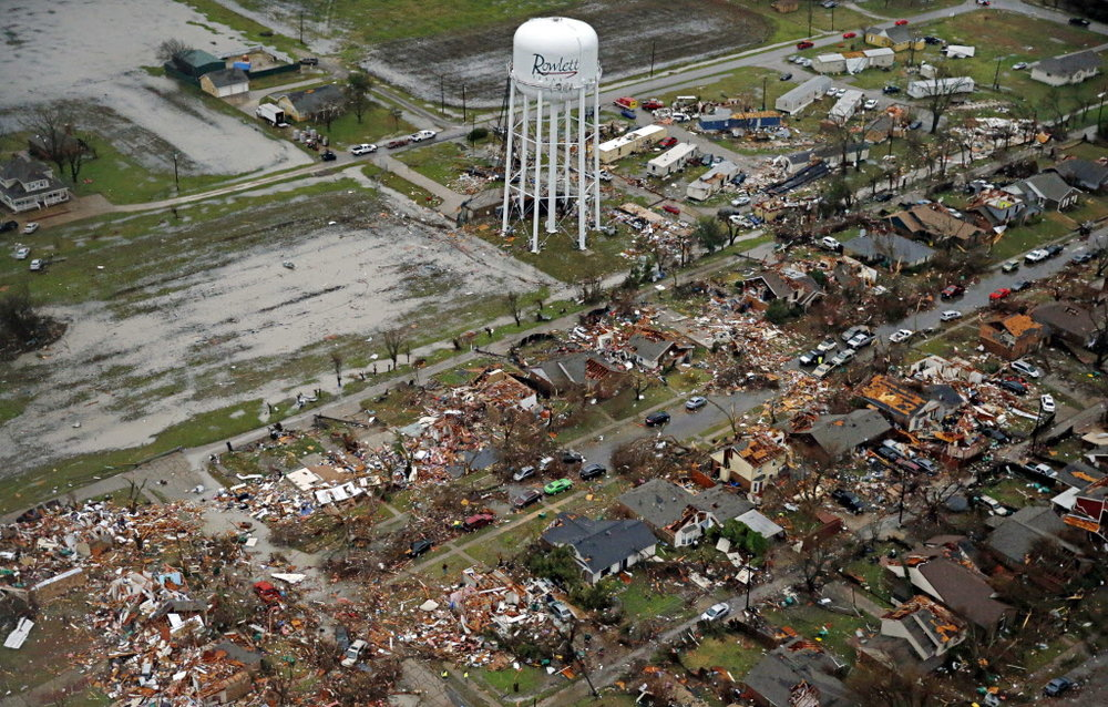 THE TORNADO DAMAGE TO ROWLETT, TX, WAS IMMENSE