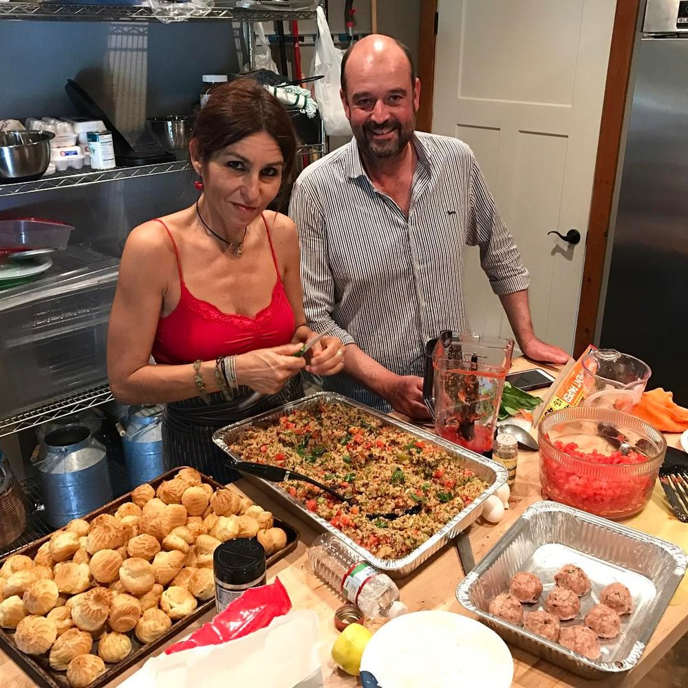 CHEFS LAURA AND JUSTIN SPENT 3 FULL DAYS MAKING OUR COMMUNITY FEAST.