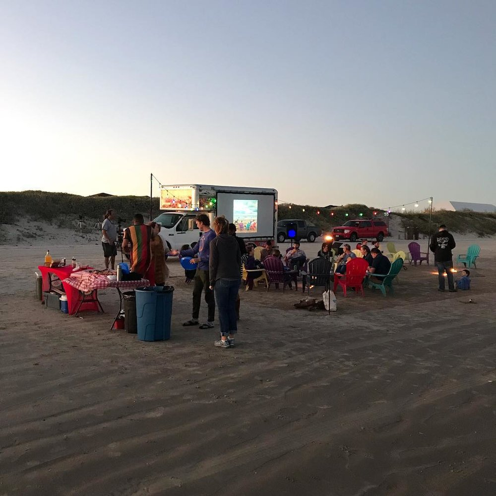 A BONFIRE BEACH PARTY FOR RETREETERS ON FRIDAY NIGHT